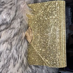 Fashion Michael Kors gold glitter hard purse